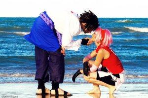 Sasuke-Sakura-Cosplay-Beach