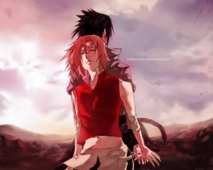 sasusaku-your back